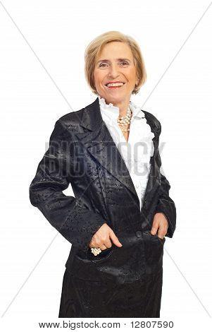 Feliz elegante mulher sênior