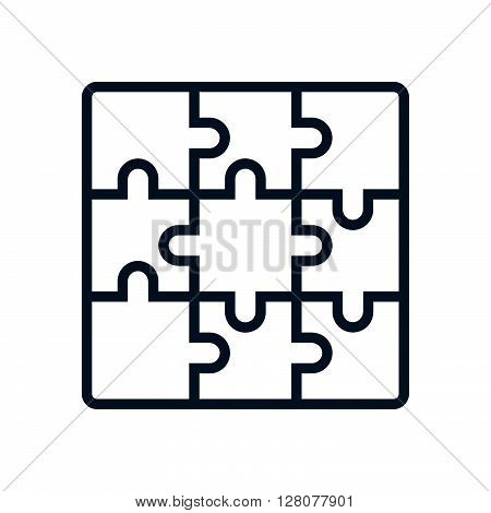 Jigsaw Puzzle, Business Solution Icon