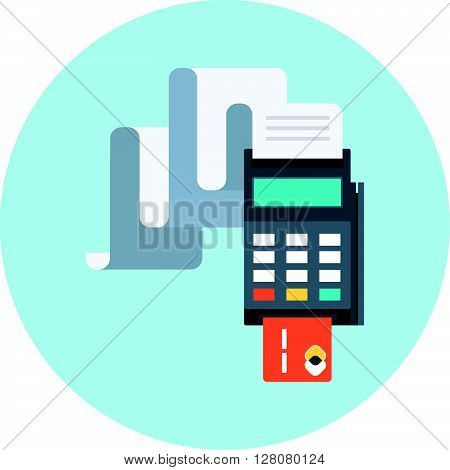 Billing, Invoice, Credit Card Payment Theme, Flat Style, Colorful, Vector Icon For Info Graphics, We