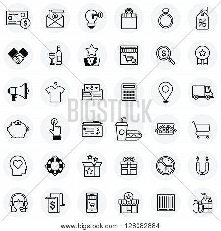 Shopping Theme Icon Set