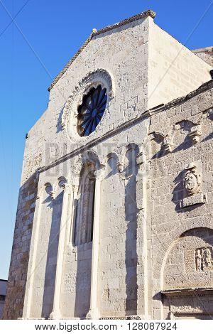 Castro architecture seen afternoon. Castro Apulia Italy