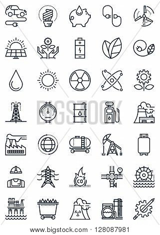 Green Energy And Industry Icon Set