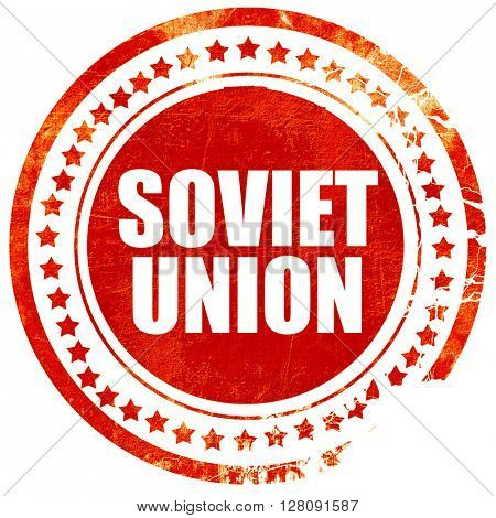 soviet union, grunge red rubber stamp with rough lines and edges