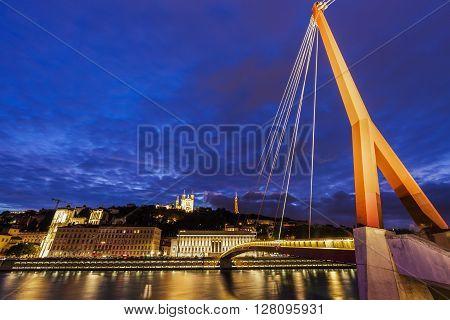Gateway Courthouse footbridge in Lyon. Lyon Rhone-Alpes France.