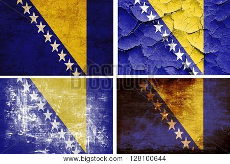 Bosnia and Herzegovina flag collection. 4 different flags on whi