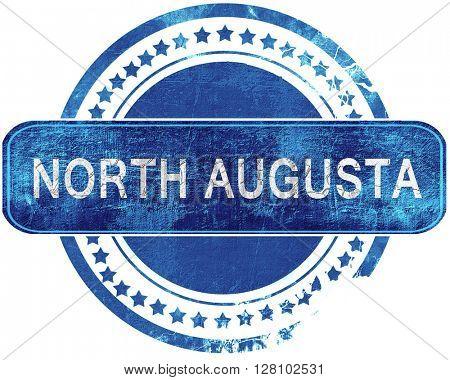 north augusta grunge blue stamp. Isolated on white.
