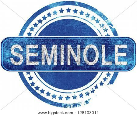 seminole grunge blue stamp. Isolated on white.