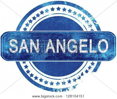 san angelo grunge blue stamp. Isolated on white.