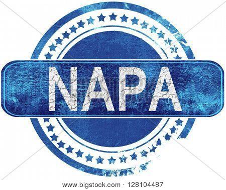 napa grunge blue stamp. Isolated on white.