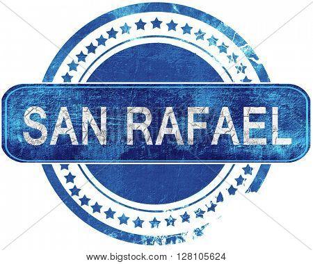 san rafael grunge blue stamp. Isolated on white.