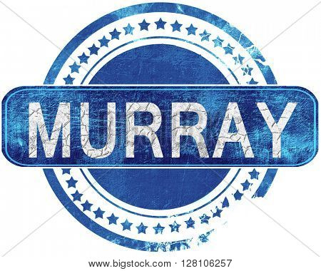 murray grunge blue stamp. Isolated on white.