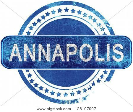 annapolis grunge blue stamp. Isolated on white.