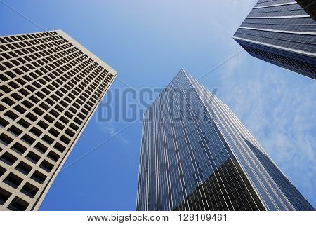 low angle view of office building in Dallas