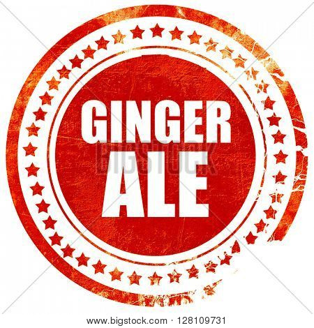 would be ale, red grunge stamp on solid background