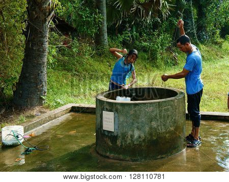 Water Source From Groundwater At Mekong Delta