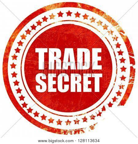 trade secret, red grunge stamp on solid background