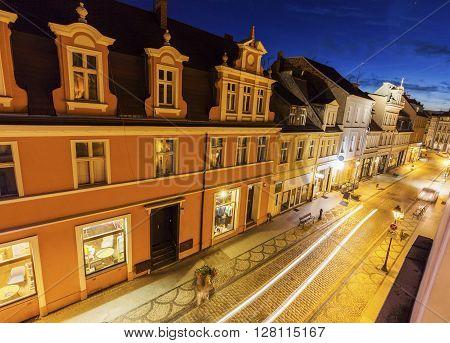 Architecutre of Bydgoszcz at night. Bydgoszcz Kuyavian-Pomeranian Poland.