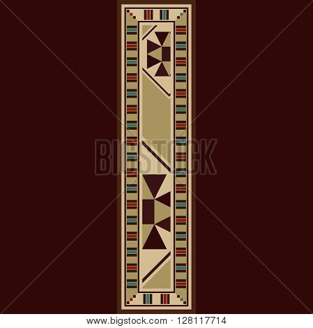 Oriental Wooden Mosaic Decorated Capital Letter I