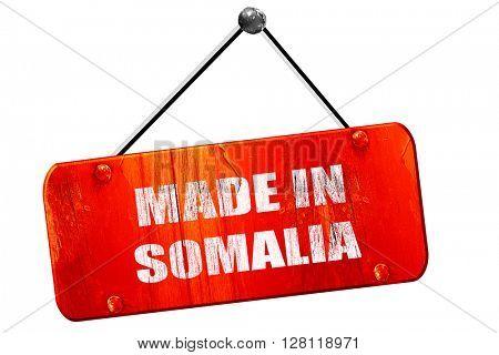 Made in somalia, 3D rendering, vintage old red sign