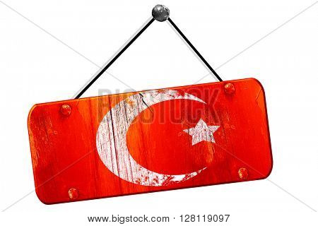 Islam faith symbol, 3D rendering, vintage old red sign