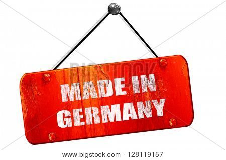 Made in germany, 3D rendering, vintage old red sign