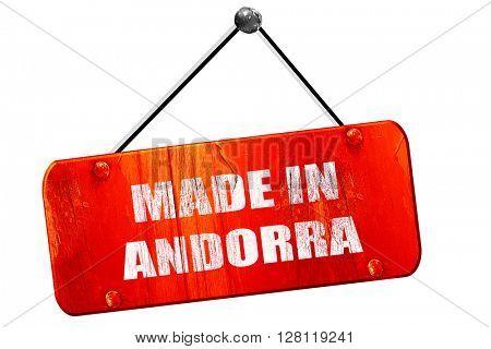 Made in andorra, 3D rendering, vintage old red sign