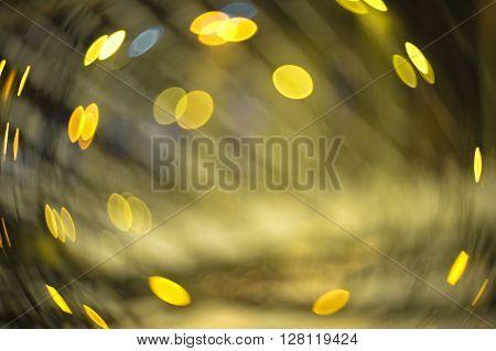 Abstract Blur Swirly Bokeh Effect