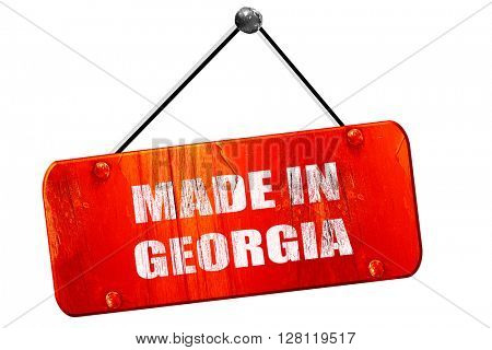 Made in georgia, 3D rendering, vintage old red sign