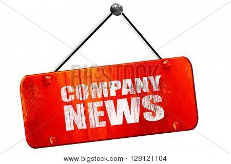 company news, 3D rendering, vintage old red sign
