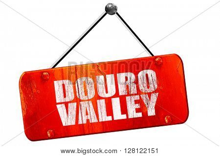 douro valley, 3D rendering, vintage old red sign