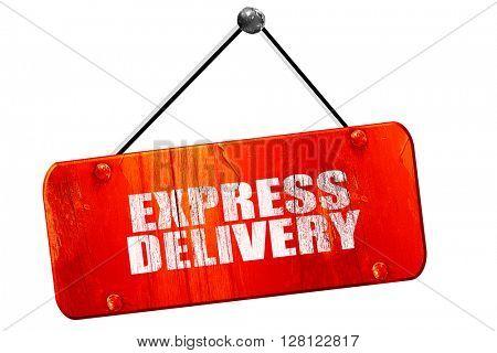 express delivery, 3D rendering, vintage old red sign