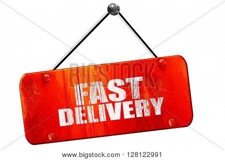 fast delivery, 3D rendering, vintage old red sign