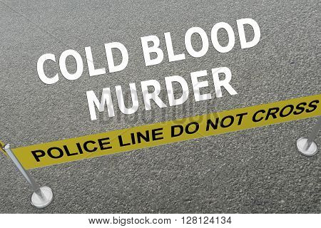Cold Blood Murder Concept