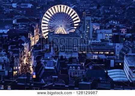 Aerial view of Lille. Lille Nord-Pas-de-Calais France