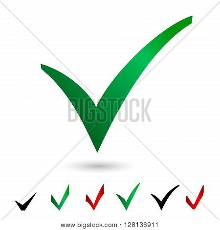 Set icons vote Elections Vector illustration isolated on white background