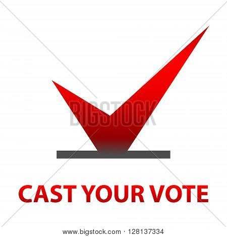 Cast your vote Symbols vector design. template Elections icons. Red check marks. Vector.