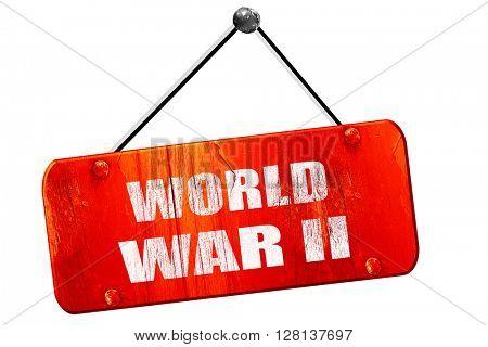 World war 2 , 3D rendering, vintage old red sign