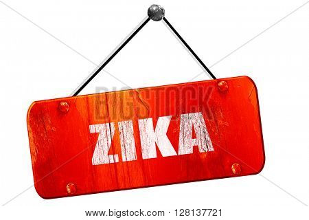 Zika, 3D rendering, vintage old red sign