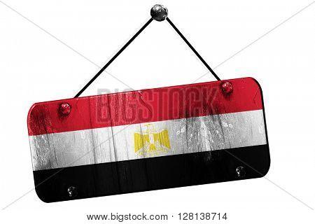 Egypt flag, 3D rendering, vintage grunge hanging sign