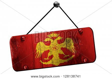 Byzatine eagle flag, 3D rendering, grunge hanging vintage sign