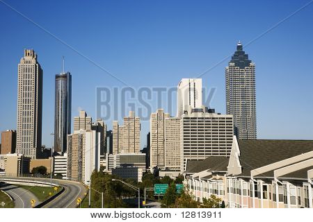 Skyline of Atlanta, Georgia.