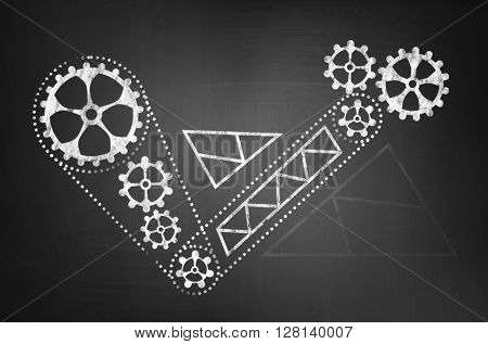 Gears drawn mechanism