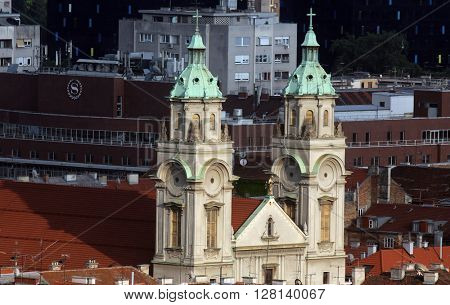 ZAGREB, CROATIA - MAY 28: Basilica of the Sacred Heart of Jesus in Zagreb, Croatia on May 28, 2015