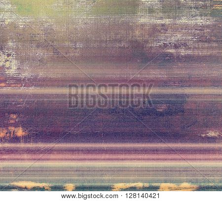 Vintage textured background with copy space. Old style backdrop with different color patterns: yellow (beige); brown; gray; green; purple (violet); pink