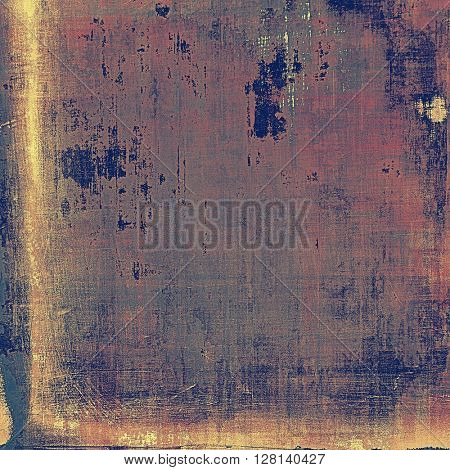 Grunge abstract textured background, aged backdrop with different color patterns: yellow (beige); brown; gray; blue; purple (violet); pink