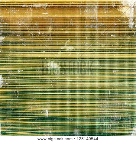 Colorful vintage background, grunge texture with scratches, stains and different color patterns: yellow (beige); brown; gray; green