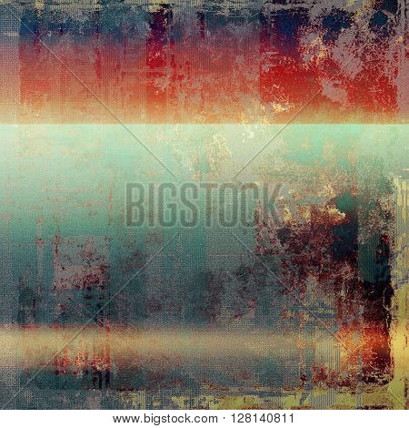 Art graphic texture for grunge abstract background. Aged colorful backdrop with different color patterns: yellow (beige); brown; gray; blue; red (orange)