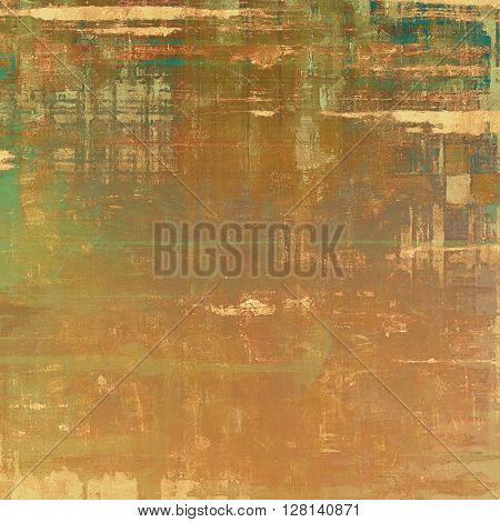 Vintage elegant background, creased grunge backdrop with aged texture and different color patterns: yellow (beige); brown; gray; green; blue