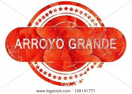 arroyo grande, vintage old stamp with rough lines and edges