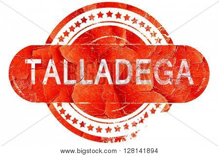 talladega, vintage old stamp with rough lines and edges